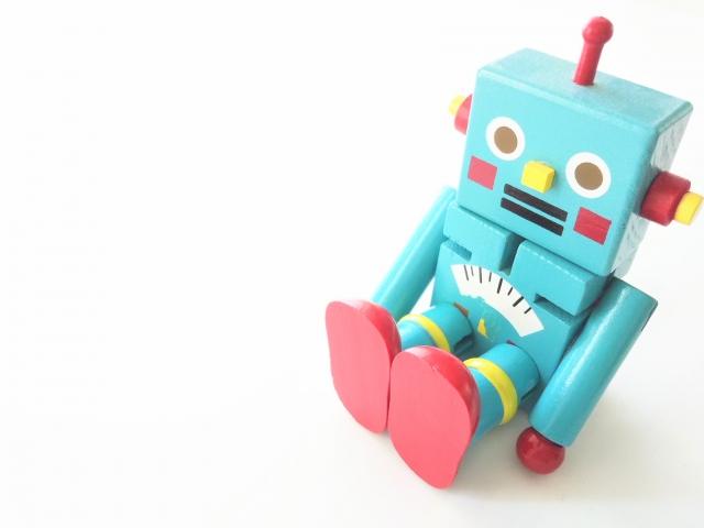 レトロなおもちゃのロボット